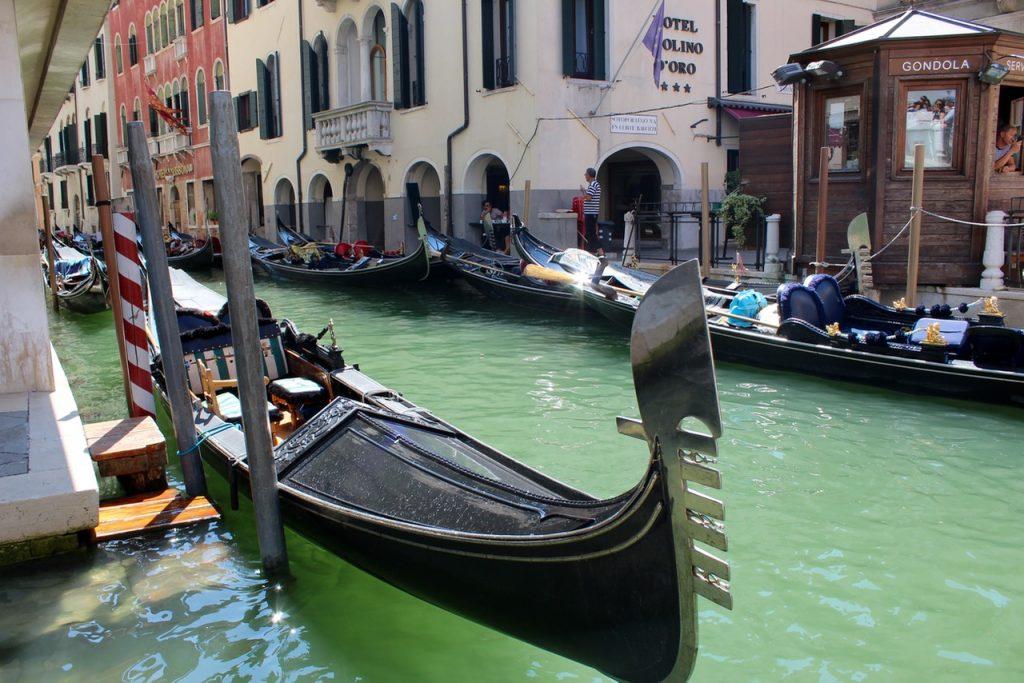 Gondolas in Venice - Passports and Spice