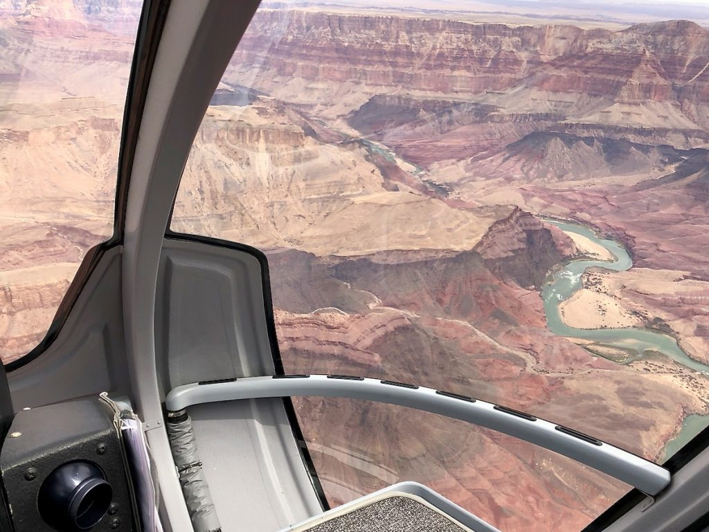 View of the Grand Canyon from our helicopter tour - Passports and Spice