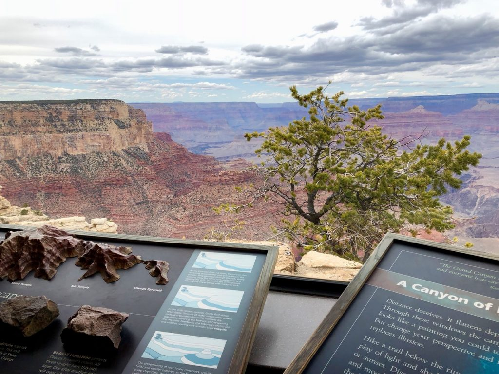 View of Grand Canyon from the Yavapai Geology Museum - Passports and Spice