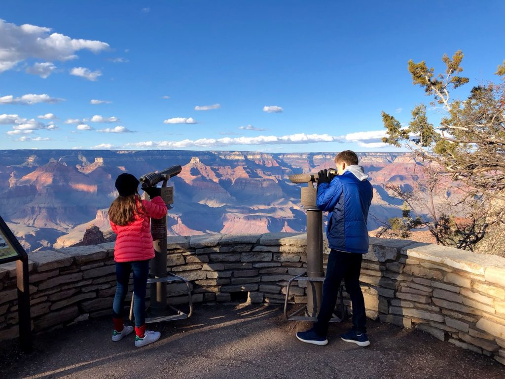 The Grand Canyon shortly before sunset - Passports and Spice