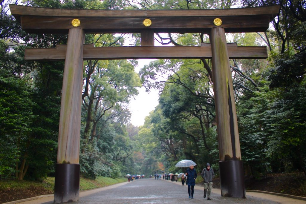 Torri gate at the Meiji Shrine in Tokyo - Passports and Spice