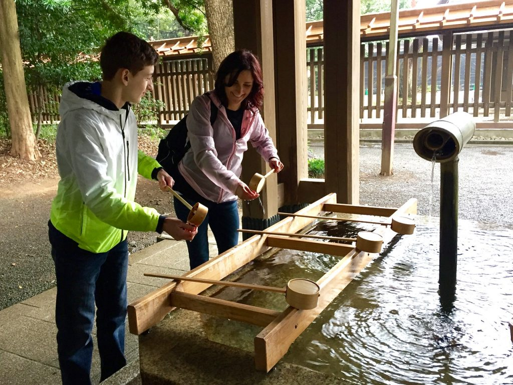 Purification station by the Meiji shrine in Tokyo - Passports and Spice