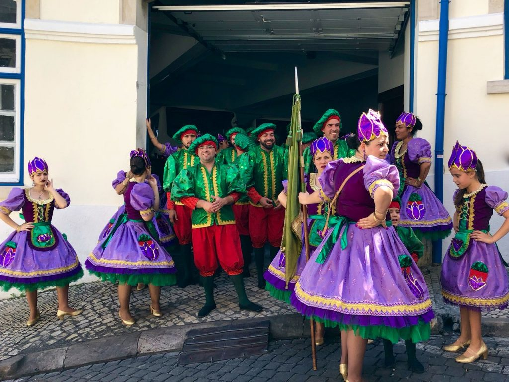 Colorful Dancers at St. Anthony's Festival in Lisbon - Passports and Spice