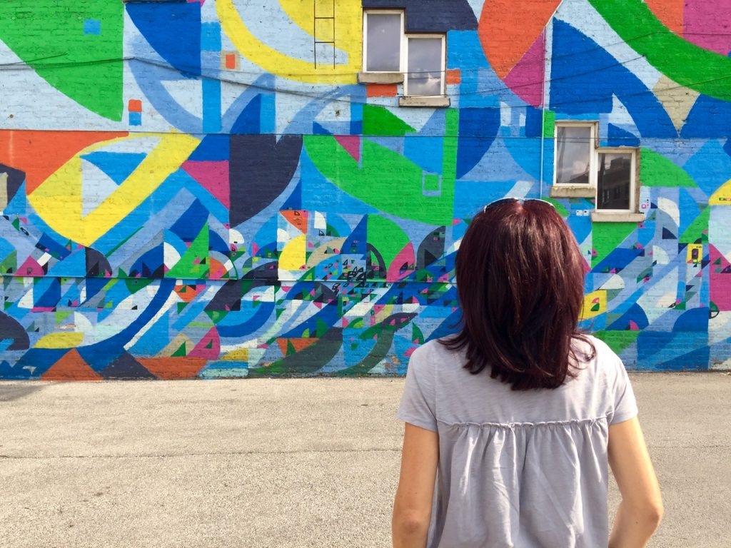 Abstract is one of awesome instagrammable walls in Chicago - Passports and Spice