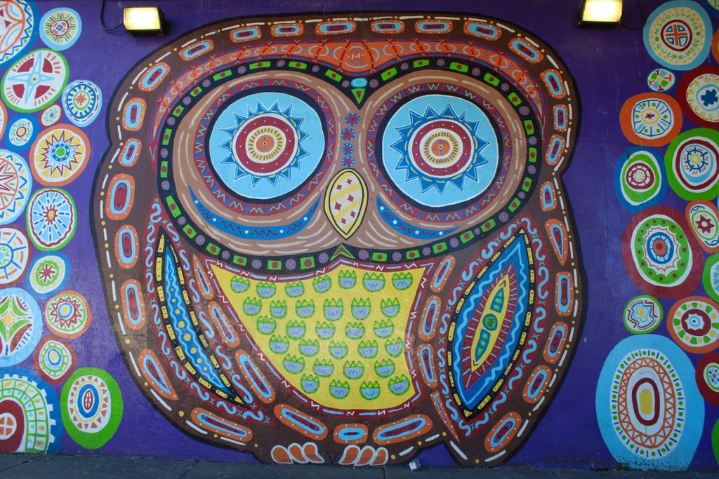 The Owl is one of awesome instagrammable walls in Chicago - Passports and Spice