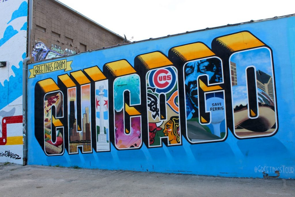 Greetings from Chicago is one of awesome instagrammable walls in Chicago - Passports and Spice