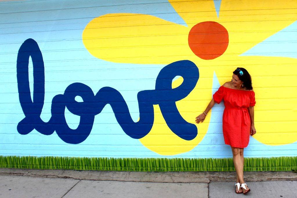 Love in Color is one of awesome instagrammable walls in Chicago - Passports and Spice