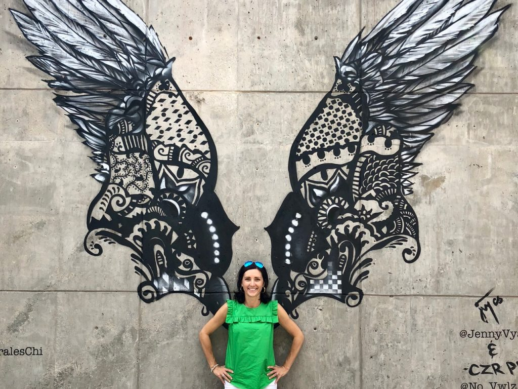 Wings is one of awesome instagrammable walls in Chicago - Passports and Spice