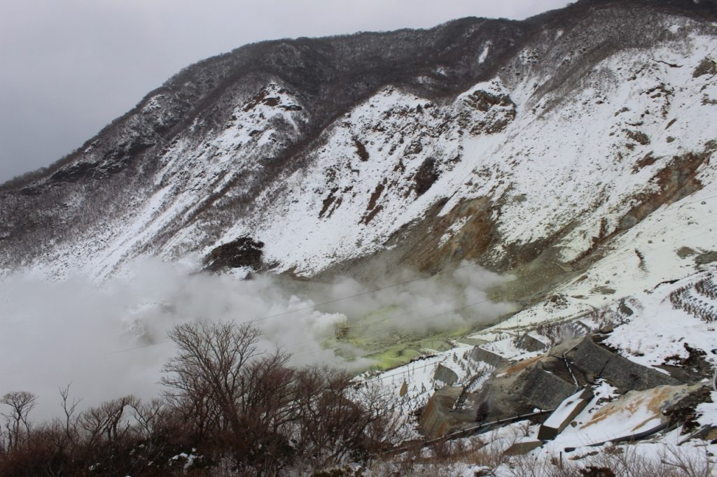 Sulphur vents in Owakudani Valley in Hakone - Passports and Spice
