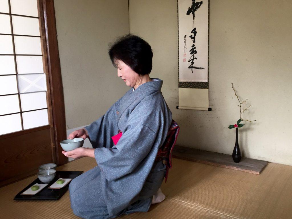 Traditional Japanese tea ceremony in Haku-undo Tea House in Gora Park, Hakone - Passports and Spice