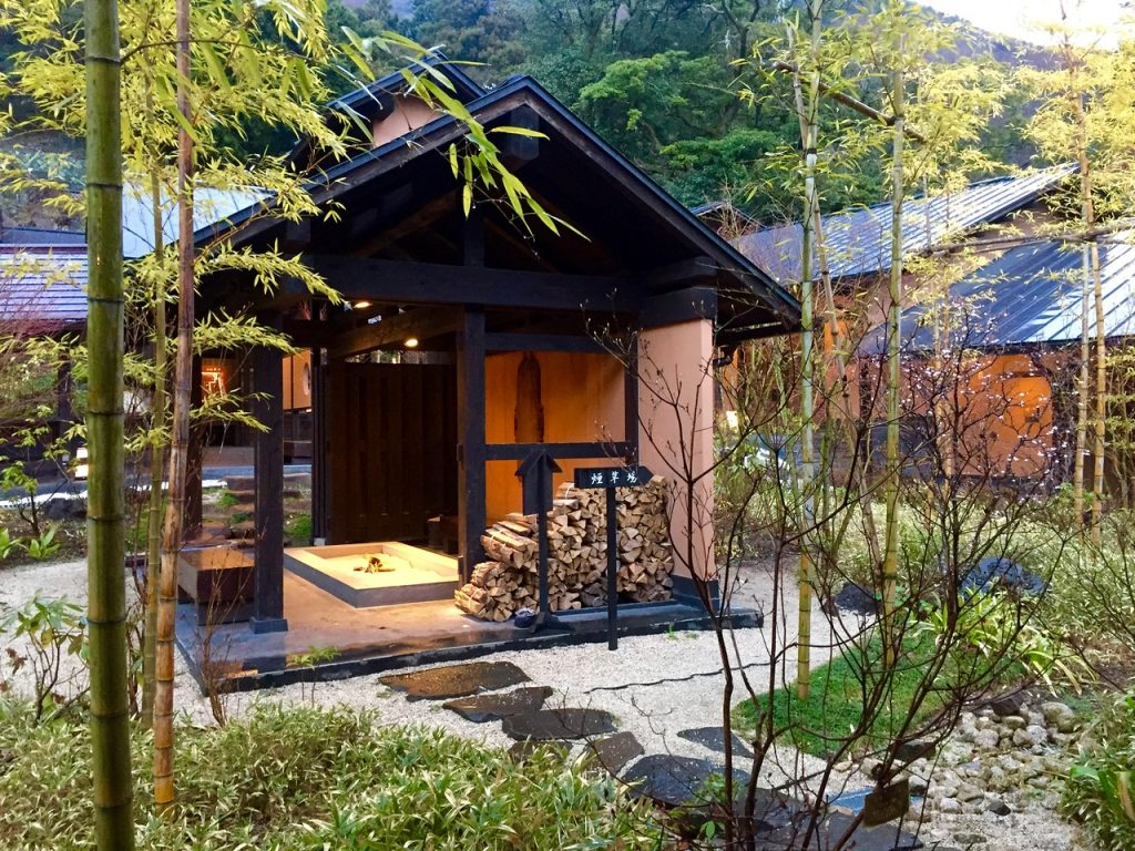 One of the beautiful outdoor Onsens in Hakone on a day trip from Tokyo - Passports and Spice